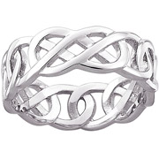 White Gold Knotted Wedding Ring
