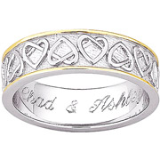 Mixed Metal Embellished Wedding Ring